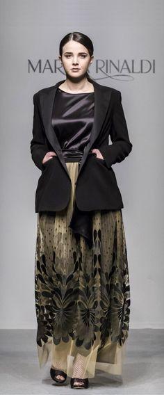 Ausgeh-Enseble mit Smoking-Jacke für Plus Size Frauen von Marina Rinaldi | AW17/18 | Fashion Week Mailand