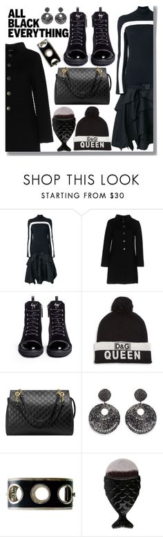 """Black"" by drigomes ❤ liked on Polyvore featuring County Of Milan, Charlott, Giuseppe Zanotti, Dolce&Gabbana, Gucci and Kenneth Jay Lane"