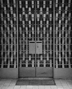 scandinaviancollectors: Steel entrance created by Jean Prouvé for the Villa Martel, architect Robert Mallet-Stevens, 1927, Paris.