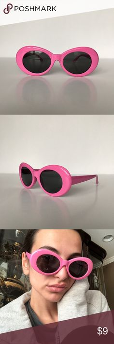 Pink Clout Goggles Kurt Cobain glasses or clout goggles • round oval glasses • Supreme style pink frame • black lenses • similar to the Acne Studio vintage sunglasses   #vintage #glasses #90s #nineties #punk #unisex #kurtcobain #nirvana #urbanoutfitters #vintagesunglasses #supreme #retro #clout #goggles #hypebeast #lilyachty #21savage #sunglasses #retro #contemporary #glasses #minimalist #frame #glasses #sunnies #shades #kurt #cobain #frames #oval #white #round Accessories Sunglasses