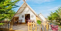 Holiday rentals glamping holidays and luxury camping on pinterest - Camping noirmoutier tipi ...