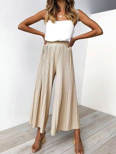 Offer Description for Conmoto 2019 Summer Casual Wide Leg Long Pants Women High Street Stripe Drape Pants Female Black High Waist Long Pants Capris If You will buy for Pants+&+Capris, then Conm… Mode Outfits, Fashion Outfits, Fashion Tips, Fashion Trends, Fashion Ideas, Fashion Hacks, Modest Fashion, Chic Outfits, Spring Summer Fashion