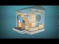 Cube - affordable small prefabricated house qb-12 (12 sq/m 4x3m) - YouTube
