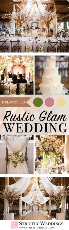 It is not often that we are at a loss for words here at Strictly Weddings, but when this epic rustic glam wedding in Chicago came across our email we were awestruck.