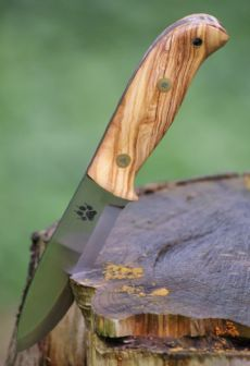 The TimberWolf Bushcraft Knife - Olive Wood.