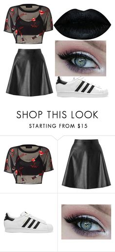 """""""Sporty Sassy Girl"""" by hey-itskiki23 ❤ liked on Polyvore featuring beauty, Miss Selfridge and adidas Originals"""