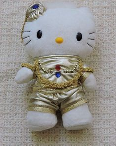Hello Kitty Dear Daniel Mcdonalds India King Plush Toy 2001 #HelloKitty