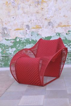 fauteuil de Cheick Diallo, Malian Designer Rattan Furniture, Furniture Design, Ethnic Decor, Interior And Exterior, Interior Design, Salon Design, African Design, Cool Chairs, Modern Chairs