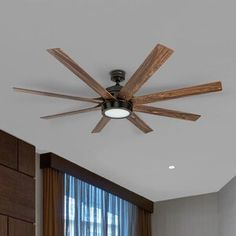 Shop for Honeywell Xerxes Oil Rubbed Bronze LED Remote Control Ceiling Fan, 8 Blade, Integrated Light - Get free delivery On EVERYTHING* Overstock - Your Online Ceiling Fans & Accessories Store! Get in rewards with Club O! Large Ceiling Fans, Ceiling Fan With Remote, Modern Ceiling, Bronze Ceiling Fan, Maxim Lighting, New Wall, Looks Cool, Oil Rubbed Bronze, Studio