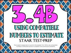 STAAR Test-Prep Task Cards!TEKS ALIGNED: 3.4B: The student is expected to round to the nearest 10 or 100 or use compatible numbers to estimate solutions to addition and subtraction problems.THIS INCLUDES: -20 multiple choice test-prep task cards-Answer key-Student recording sheet*These cards are a great way to assess student understanding and prepare for the STAAR test! **All questions are directly aligned to the 3rd Grade Math STAAR Test!