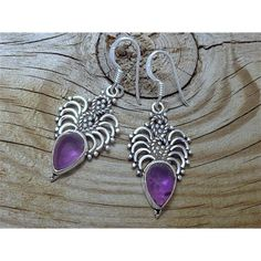 Fine Sterling Silver Purple Amethyst Earrings #houseofaudrey