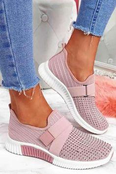 Pink Wedges, Pink Sandals, Shoes Heels Wedges, Pink Heels, Sneakers Mode, Pink Sneakers, Slip On Sneakers, Sneakers Fashion, Pink Boots