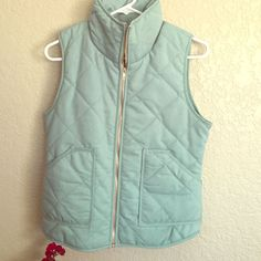Quilted Seafoam Vest
