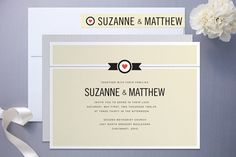 Wedding invitations with heart | Offbeat Bride