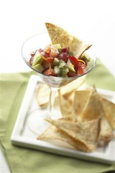 Sweet Fruit Salsa with Cinnamon Chips, Spice Islands