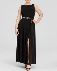 MICHAEL Michael Kors Plus Grommet Trim Maxi Dress | Bloomingdale's