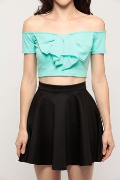 Chiffon Bow Crop Top
