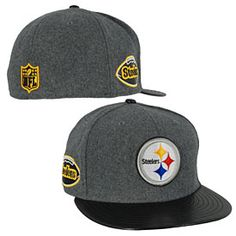 36cad288 Get this Pittsburgh Steelers Leather Melton 5950 Fitted Cap at  ThePittsburghFan.com Pittsburgh Steelers Hats