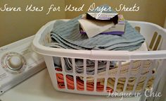 Seven Uses for Used Dryer Sheets #recycle