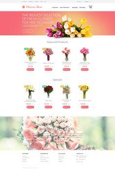 Flowers OpenCart Template #onlinestore #ecommerce http://www.templatemonster.com/opencart-templates/55697.html