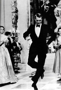 Ingrid Bergman & Cary Grant attempting a Scottish Reel in Indiscreet (1958)