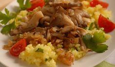 Bon Appetit, Grains, Stuffed Mushrooms, Paleo, Good Food, Food And Drink, Veggies, Rice, Vegetarian