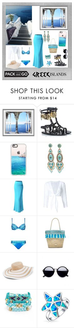 """""""Greek Islands #11"""" by rowena03 ❤ liked on Polyvore featuring Polaroid, Ancient Greek Sandals, Casetify, Miguel Ases, Lisa Marie Fernandez, Gottex, Caffé, Vera Bradley, Erimish and Bling Jewelry"""