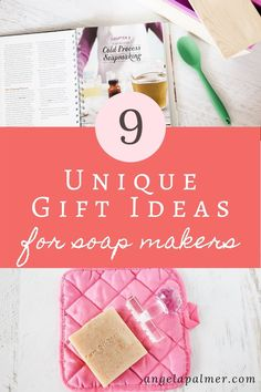 Looking for some awesomely unique gift ideas for soap makers? This post has 9 fabulous gifts ideas that soap makers will love. Pin to save, then click over to my farm blog to get the list of 9 gift ideas for soap makers. Homemade Skin Care, Diy Skin Care, Handmade Soap Recipes, Unique Gifts, Best Gifts, Lotion Recipe, Diy Lip Balm, Soap Maker, Cold Process Soap