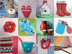 1. vintage polka dot china 2. dotted heart 3. gingerbread bird house 4. polkadot laarsjes 5. textile corsage polka dots 6. blue teddy bear 7. vintage polkadots 8. dotty iPhone pouch 9. a soft spot for dots 10. polka dots...