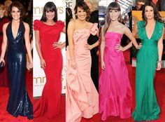 Our fave Lea Michele red carpet looks! #fashion