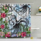 <strong>Octopus in Tropical Underwater Print Shower Curtain</strong> by Ambesonne