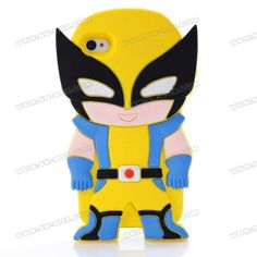3D Cute Cartoon X-Men Shock Absorption Rubberized Silicone Jelly Case Cover For iPhone 4S iPhone 4 | SW-BOX.com