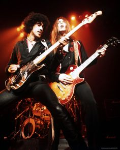 Thin Lizzy. They opened for Queen's A Night at the Opera Tour, at the Richfield Coliseum outside of Cleveland.