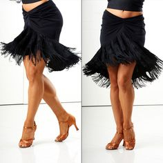 Fringe bell latin dance skirt <3 Perfect for salsa, cha cha or rumba