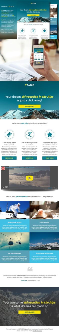 ALT-V travel agency email template Pinterest Template and