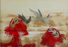 Αποτέλεσμα εικόνας για γαλιωτος ζωγραφος Greece Painting, Parthenon, 10 Picture, Greek Art, Be My Valentine, Unique Art, Rooster, Pictures, Animals