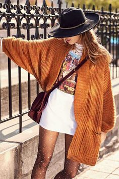 5bd091229e 29 Things From Urban Outfitters You ll Want To Add To Your Wardrobe ASAP.  Orange CardiganOversized Cardigan OutfitOversized ...