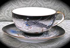 Japanese DragonWare Geisha Embellished Tea by FunkAndMoreVintage, $46.00