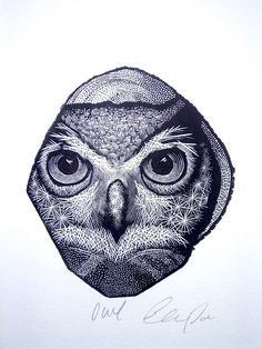 Hey, I found this really awesome Etsy listing at https://www.etsy.com/listing/180659157/owl-print-black-and-white-art-bird-print