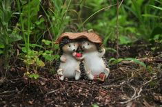 hedgehogs garden statue gifts for mom's birthday