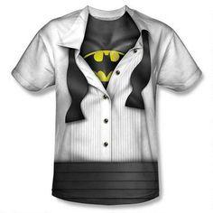 Bruce Wayne Open Tux, Reveal Batman Allover Print Adult T-Shirt