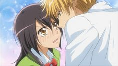 """I can't explain to you how adorable these two are. I'm not, much into Anime or Manga, but I love Usui and Misaki from the Manga series """"Maid Sama"""". Overwhelmingly cute, but I am a hopeless romantic. Fanart Manga, Manga Anime, Anime Art, Best Romantic Comedy Anime, Usui Takumi, Misaki, Maid Sama Manga, Natsume Yuujinchou, Kaichou Wa Maid Sama"""