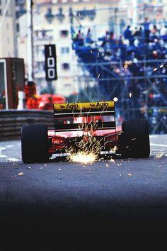 f1pictures:  Jean Alesi Ferrari Monaco 1992