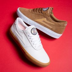 Familiar quality in a new look: the signature Lakai Footwear shoes from Griffin Gass. Get the new Lakai Manchester colorways #skatedeluxe #SK8DLX