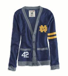 Notre Dame Vintage Varsity Cardigan