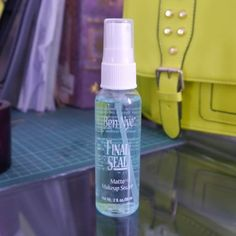 It's a makeup sealer that professionals use to keep makeup from sweating off or sliding off your face and basically your new BFF if you're planning on going dancing or running or doing something super active.