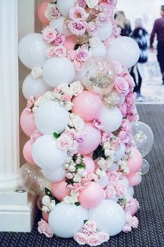 Romantic Wedding Decorations With Balloons Wedding Balloon Decorations For Reception, Balloon decorations for photo backdrop. Balloon garlands for party! Wedding Balloon Decorations, Party Decoration, Wedding Balloons, Birthday Decorations, Baby Shower Decorations, Backyard Decorations, Garland Decoration, Diy Garland, Balloon Backdrop