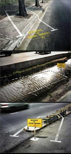 What a great way to deliver the message - #DrinkDrivingKills Shocking creative ad
