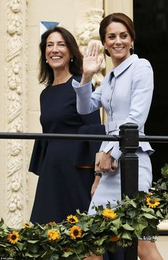 Kate gives a cheery wave to well wishers as she is led into the Mauritshuis gallery by its...