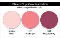 Stampin' Up! Color Inspiration: Powder Pink, Flirty Flamingo, Rich Razzleberry